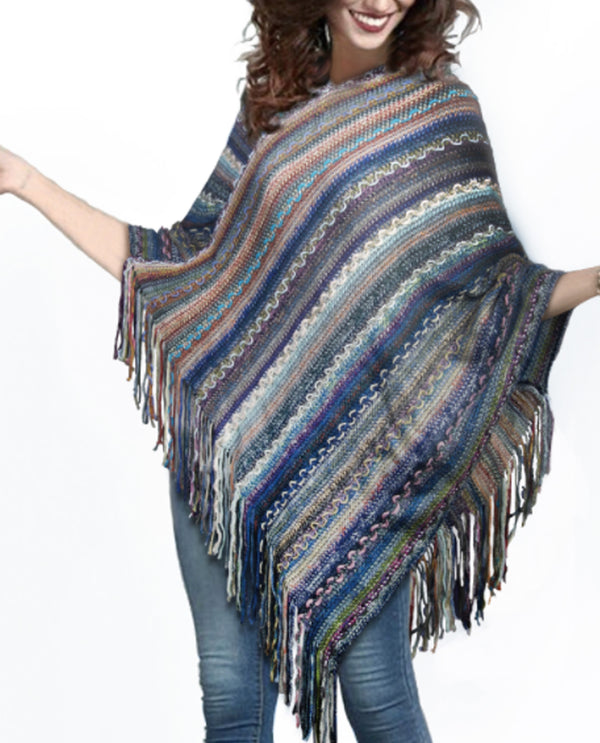 V Neck Giving Poncho