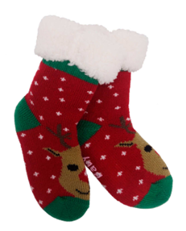 69293 Baby Holiday Slipper Sox RDLF
