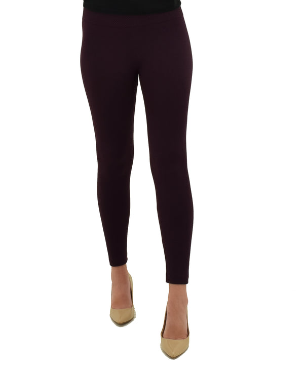 MV14546Z Burgundy Pique Fleece Lined Leggings