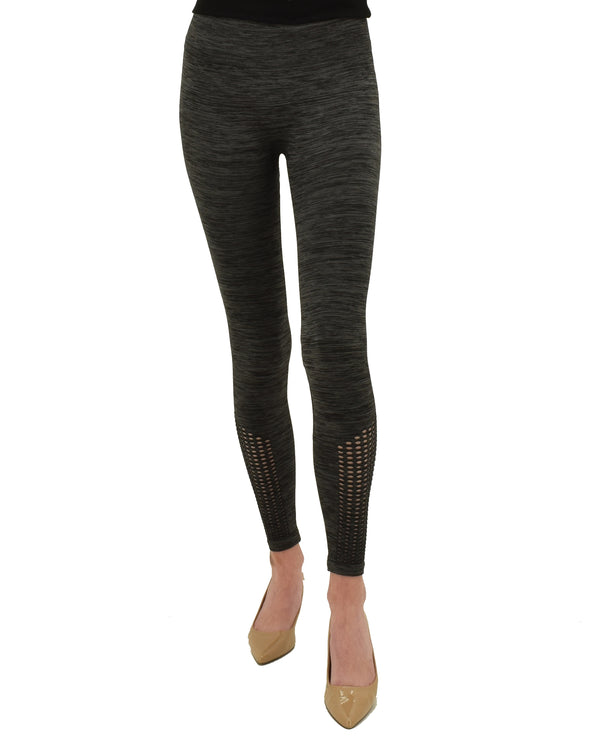 MV20302Z Charcoal Grey Ankle Cutout Legging