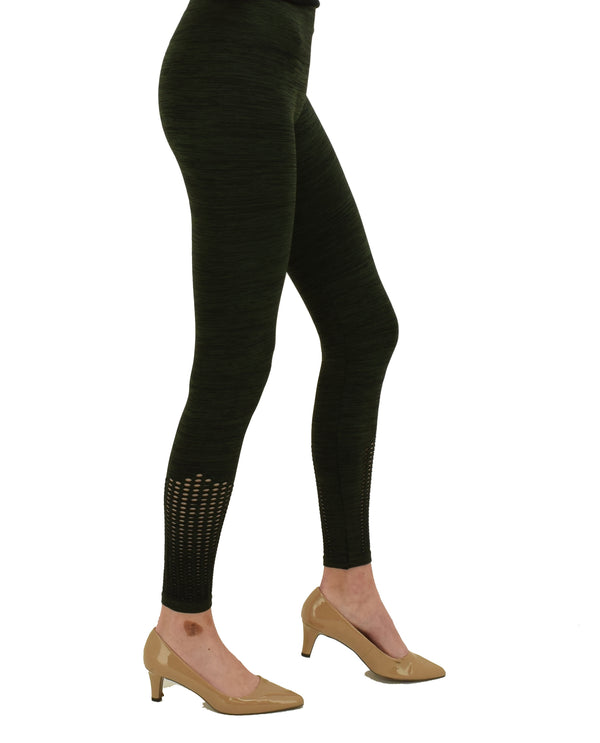 AMV20301Z Black Washed Laser Cut Leggings