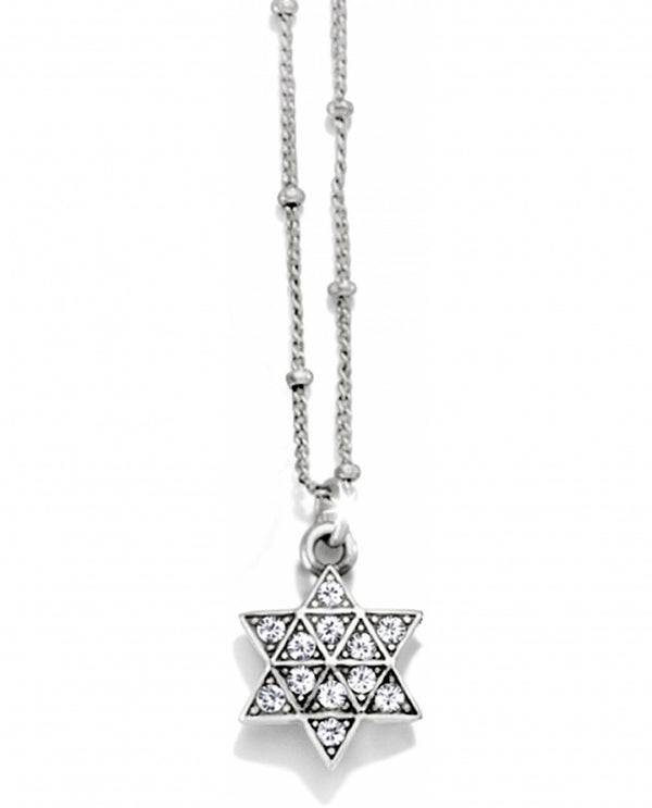 Silver Brighton JN1572 Star Of David Necklace with Swarovski star shape