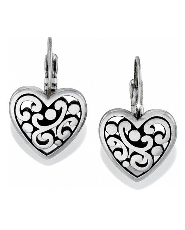 Brighton J19870 Contempo Heart Leverback Earrings