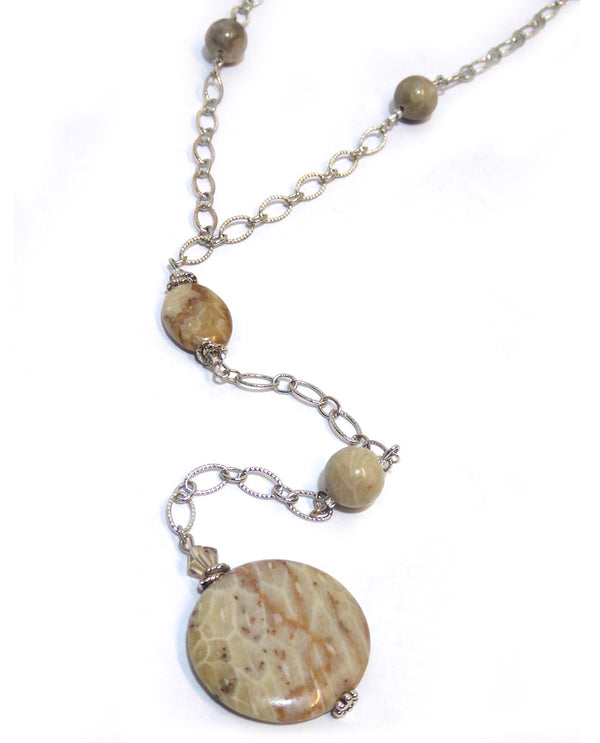 Jessie Fossil Coral Necklace