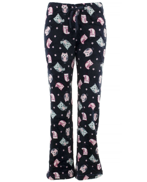 90002LA Plush Juniors Pj Pants Owl