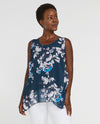 Sympli 9103 Reversible Whisper Sleeveless Floral Navy
