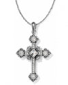 Silver Brighton JL2641 Alcazar Cross Necklace with shimmering Swarovski and Alcazar hearts