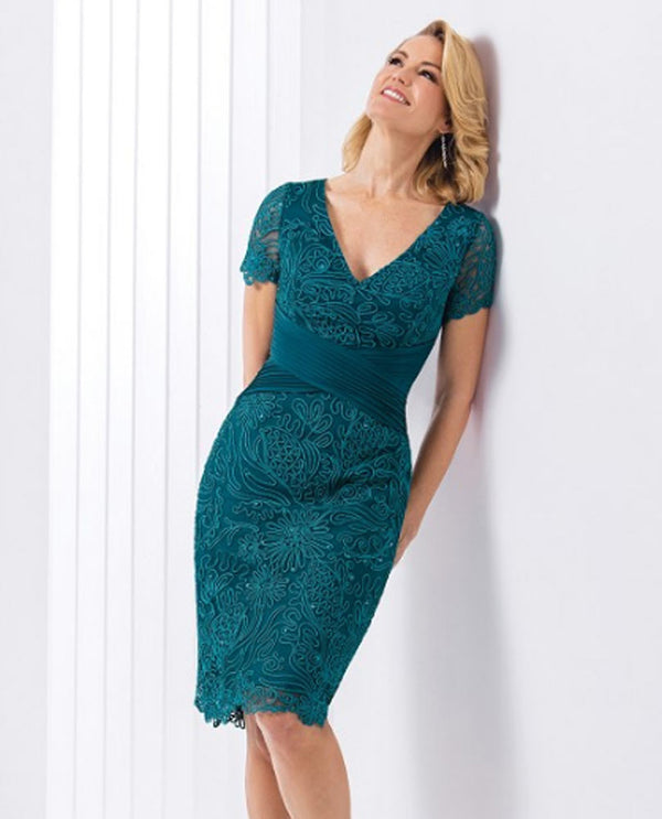 Jasmine M180061 Soutache Lace Dress