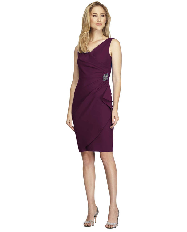 Alex Evenings 134005 Scuba Tank Dress Aubergine