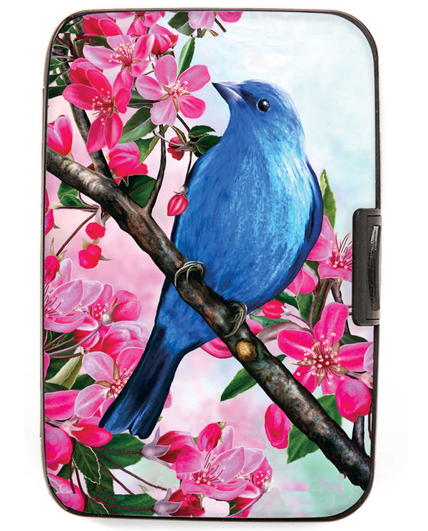Armored Wallet 71492 Blue Bird Wallet aluminum wallet with RFID protection holding 12 cards