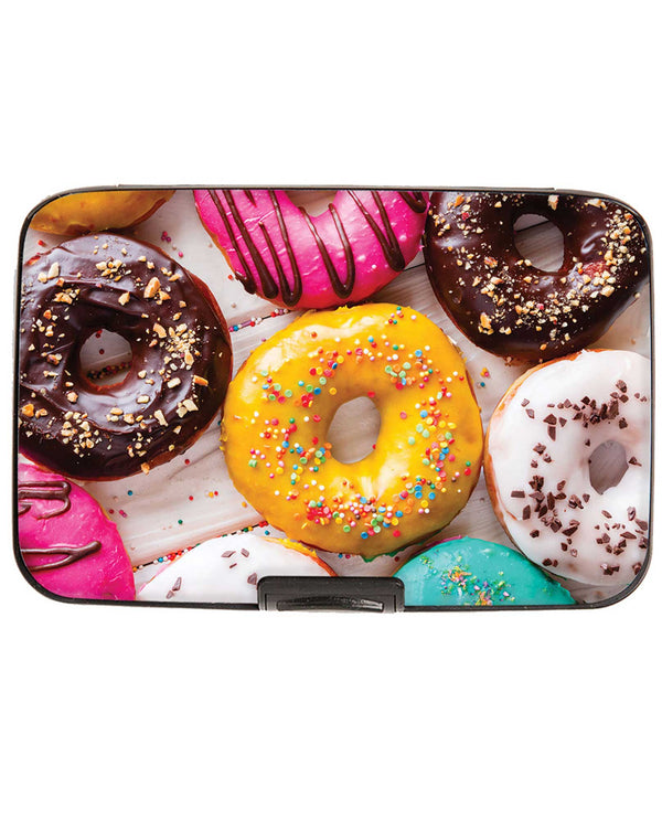 Armored Wallet 71896 Donuts Wallet aluminum wallet with colorful donuts printed
