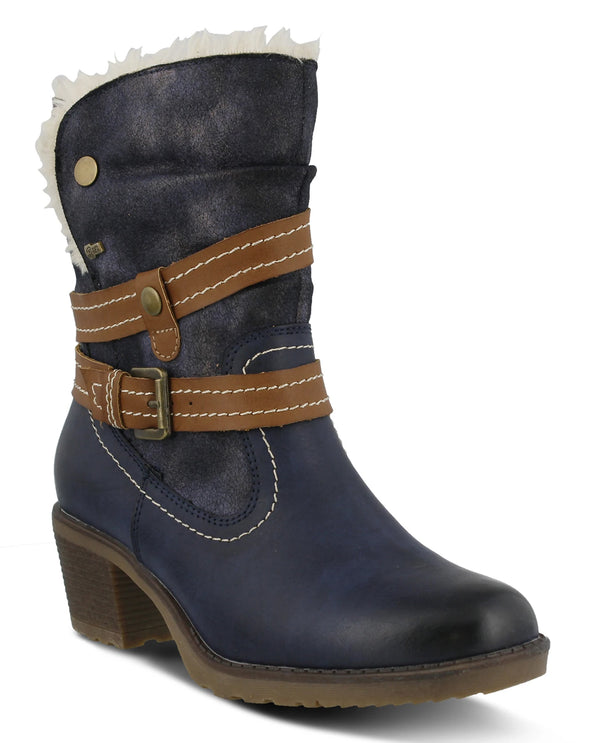 Spring Step Boot with Decorative Belting Navy