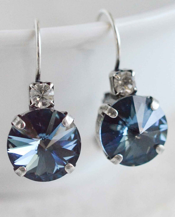 Denim Crystal BROOKE EARRING BY RACHEL MARIE DESIGNS