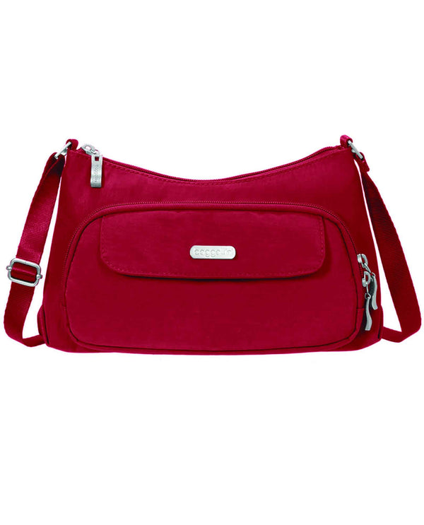 Baggallini EVB477 Everyday Bagg apple red nylon crossbody bag with pockets