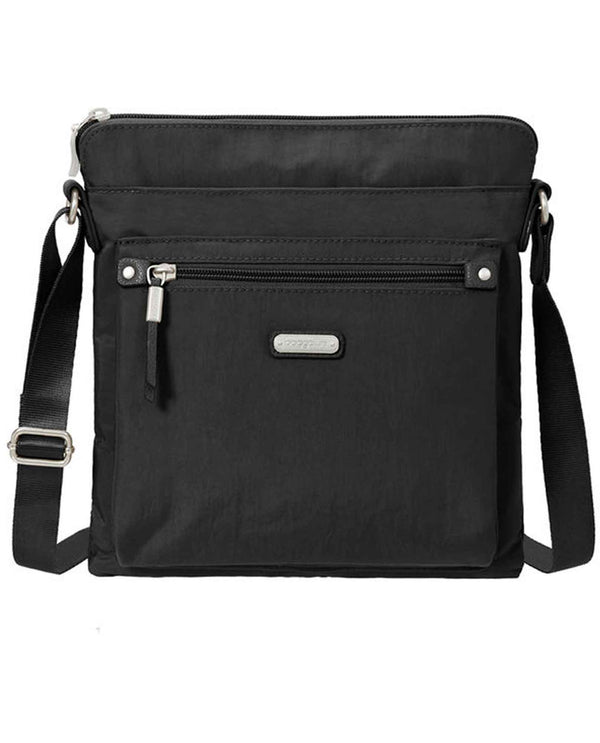 Baggallini GOB282 Go Bagg With Wristlet black nylon crossbody bag