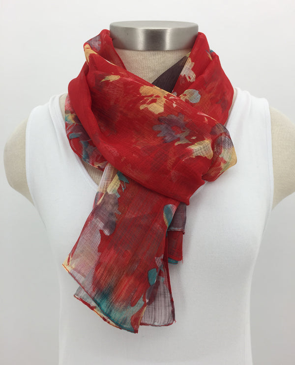 Red Bouquet Scarf