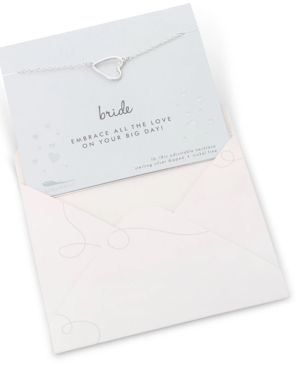 Bride Necklace Card Silver