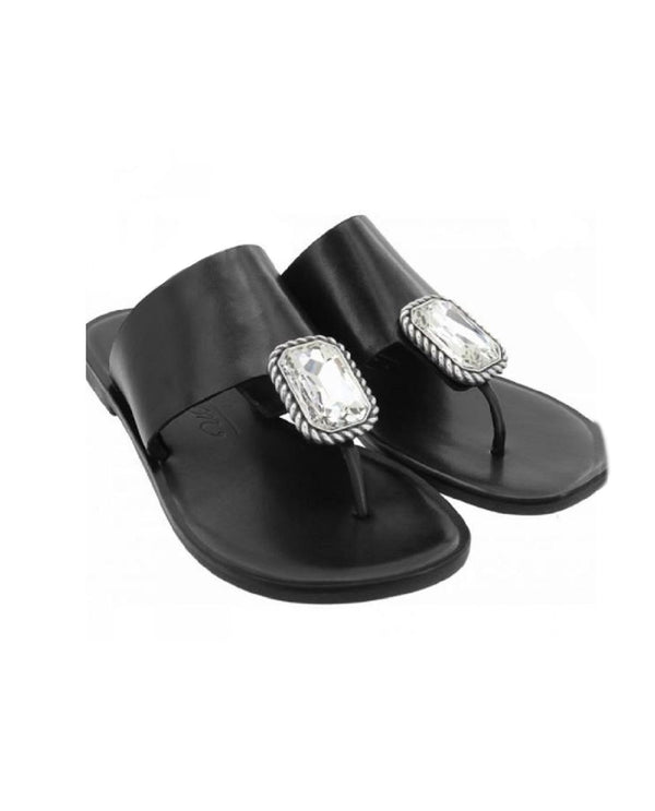 Brighton Allure Thong Sandal Black