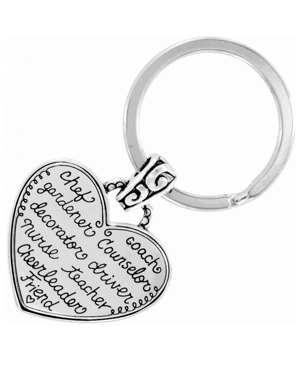 Brighton E13580 Mom Key Fob heart shaped mom keychain