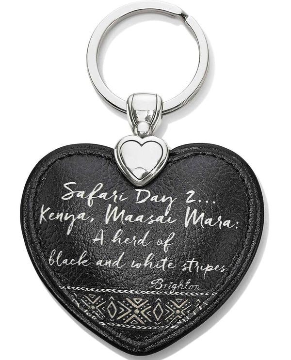 Brighton E1782M Africa Stories Zebra Heart Key Fob