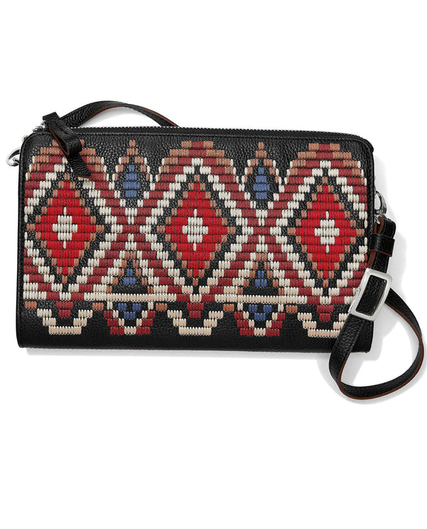 Brighton E52623 Masai Embroidered Pouch exotic inspired bead pouch with crossbody strap