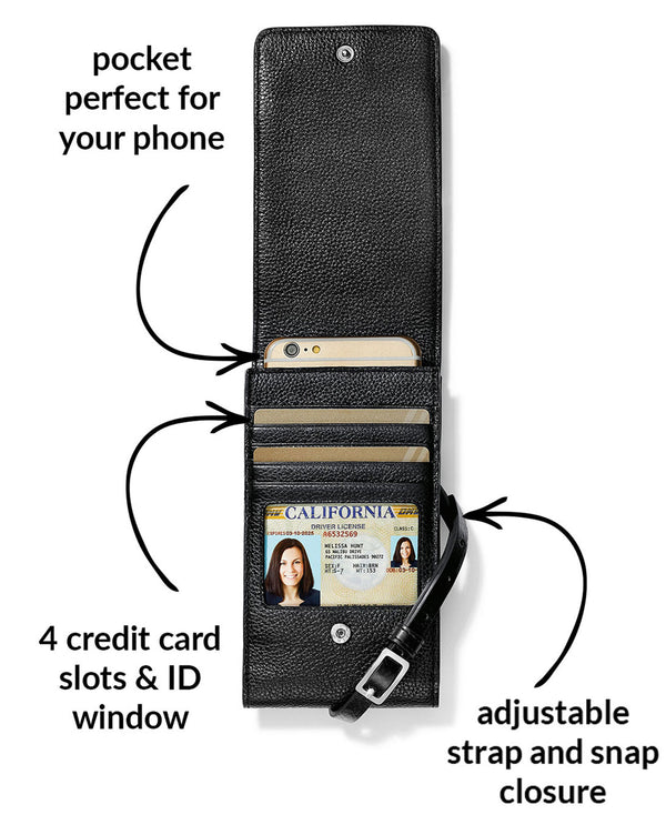 Brighton E53153 Pretty Tough Phone Organizer Black