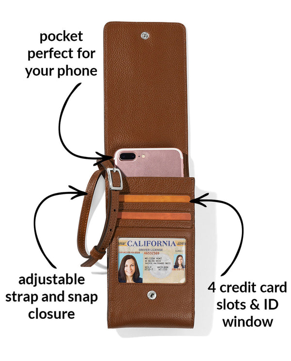 Brighton E5315U Pretty Tough Phone Organizer BOURBON