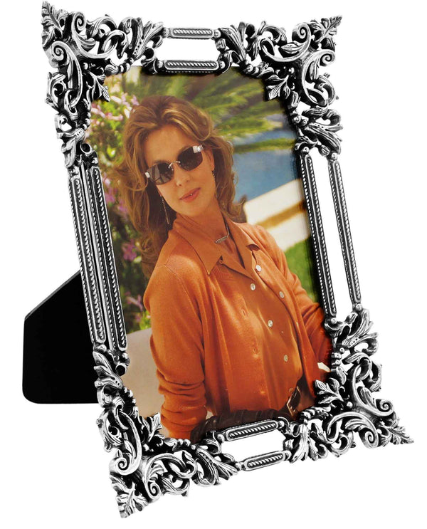 Brighton G10150 The Romance Grand Frame 5x7 silver frame with lace like details