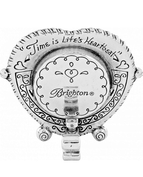 Brighton G20112 Heartbeat In Time Clock silver heart-shaped clock for a wedding gift