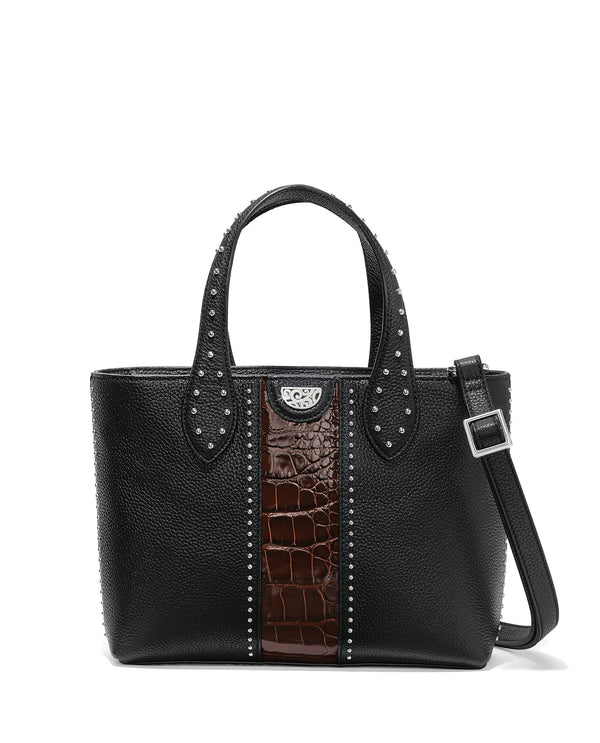 Brighton H36689 Zoey Small Convertible Tote Black and Chocolate