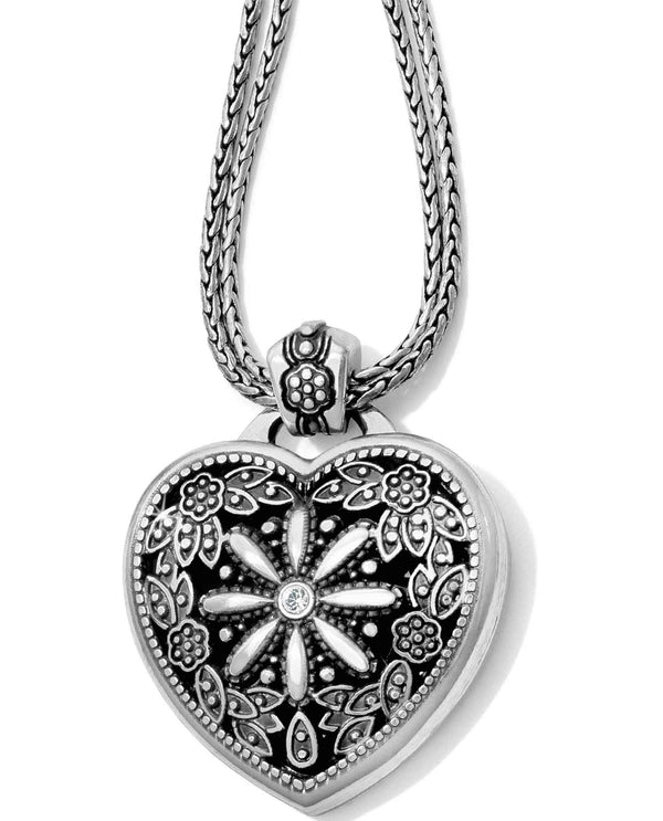 Brighton J44722 Floral Heart Locket Necklace