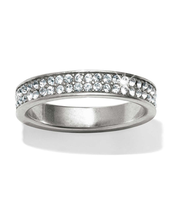 Brighton J62601 Meridian Swing Pave Band Ring Silver