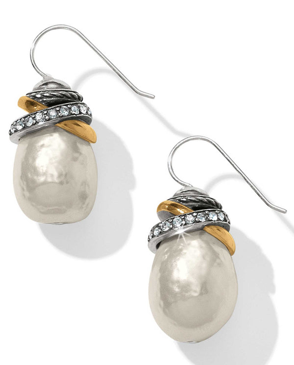 Brighton JA365P Neptune's Rings Pearl French Wire Earrings glass pearl earrings