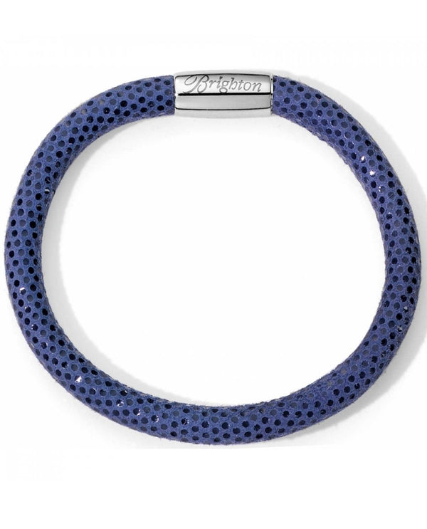 Brighton JB9316 Woodstock Sparkle Single Bracelet navy blue leather bracelet