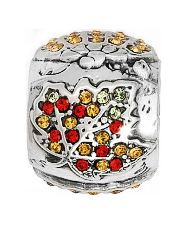 Brighton JC0272 Autumn Spirit Bead with Swarovski crystal leaf