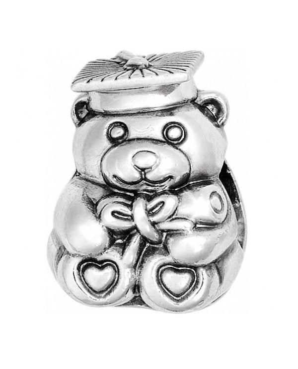 Brighton JC1290 Grad Bear Charm graduation bead with a bear holding a diploma