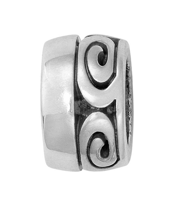 Brighton JC3680 Vertigo Spacer Bead silver swirly design bead