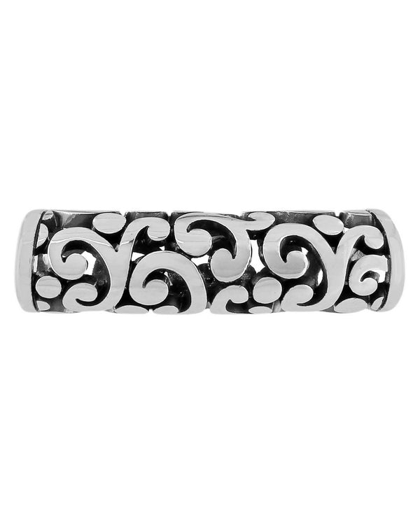 Brighton JC3700 Contempo Long Bead long silver bead with swirls