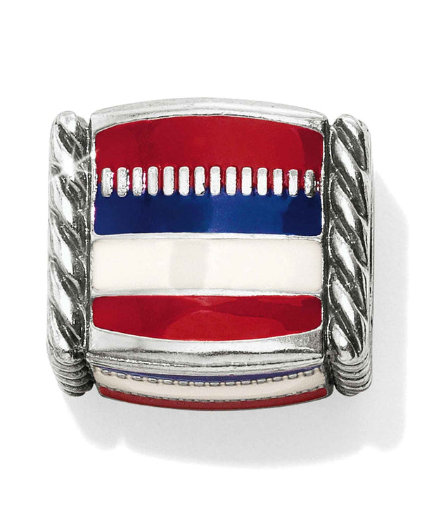 Brighton JC4363 Americana Cube Bead red, white and blue striped bead for America