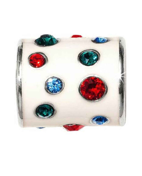 Brighton JC4623 Sugar Dots Bead with jewel toned Swarovski crystals