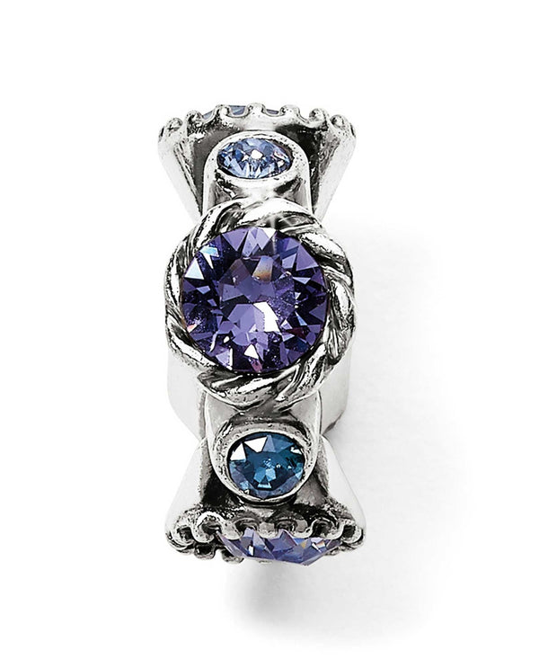 Brighton JC4993 Halo Stargazer Spacer with blue and purple Swarovski
