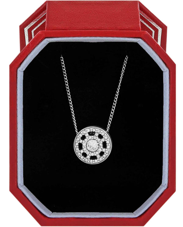 Brighton JD1511 Illumina Petite Necklace Gift Box round silver Swarovski crystal necklace