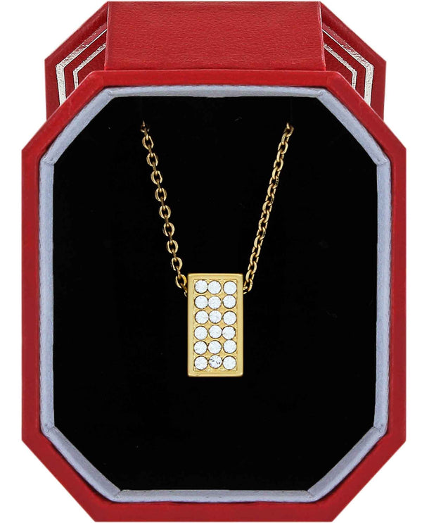 Brighton JD1555 Meridian Zenith Necklace Gift Box gold square necklace with Swarovski crystals
