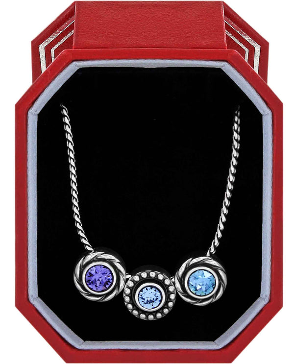 Brighton JD1643 Halo Orion Necklace Gift Box delicate silver necklace with Swarovski crystals