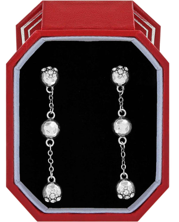Brighton JD4511 Bilbao Mist Post Drop Earrings Gift Box dangling silver Swarovski earrings