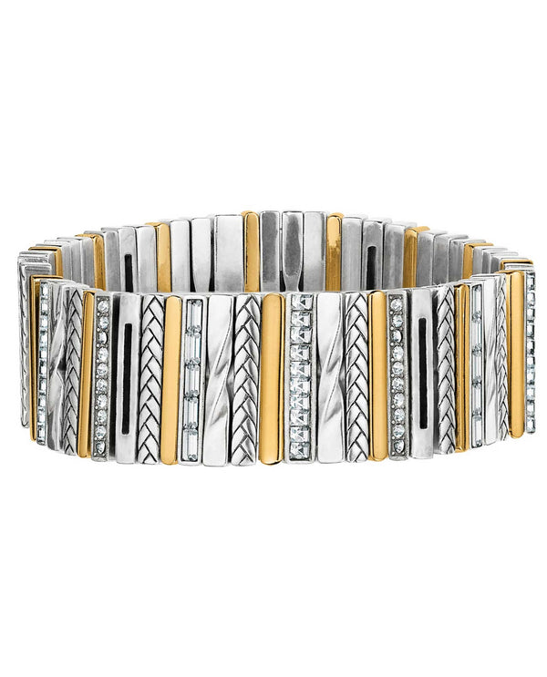 Brighton JF5953 Tapestry Stretch Bracelet mixed metal bracelet with Swarovski