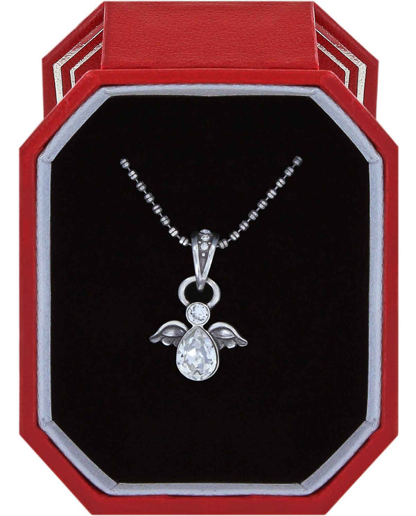 Brighton JL7061 Heavenly Angel Necklace Gift Box Swarovski crystal angel necklace