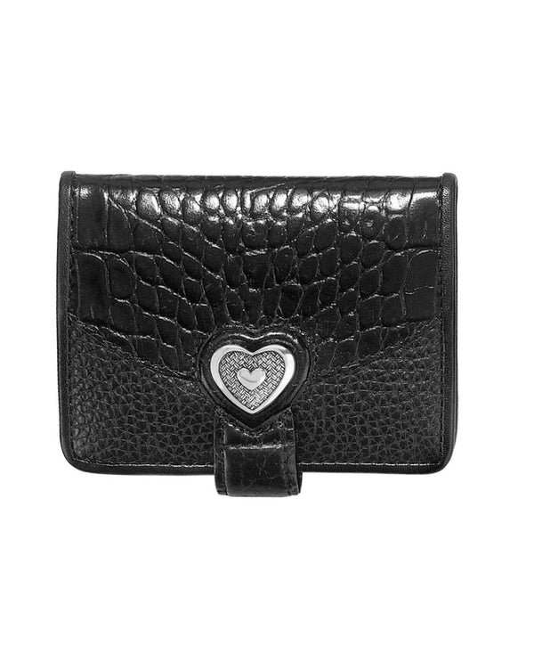 Brighton T10393 Bellissimo Heart Small Wallet Black