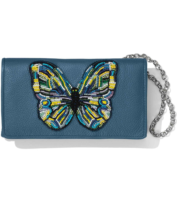 Brighton T34946 Crystal Pond Beaded Wings Clutch Wallet