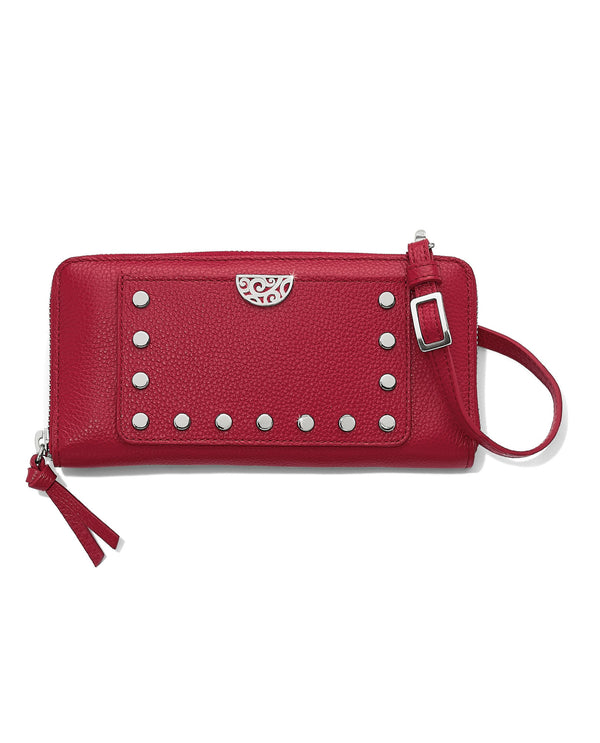 Brighton T35017 Rox Large Zip Wallet Lipstick